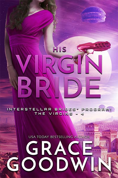 book cover for His Virgin Bride by Grace Goodwin