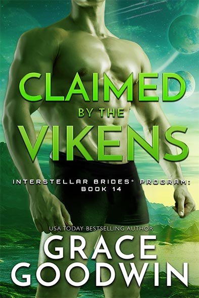 book cover for Claimed by The Vikens by Grace Goodwin