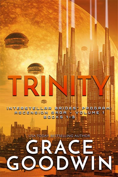 book cover for Trinity - Ascension Saga - Volume 1 by Grace Goodwin