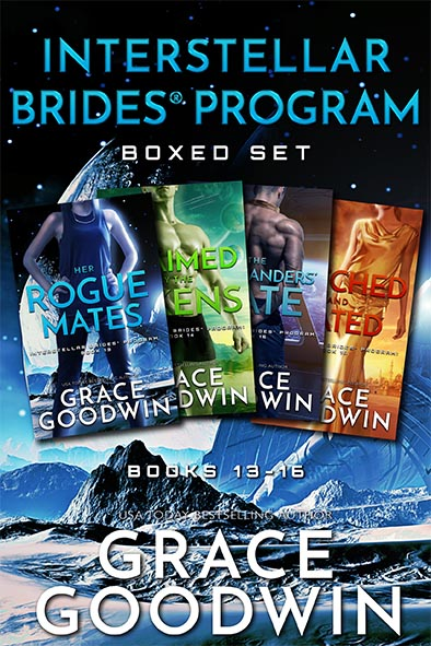 book cover for Interstellar Brides Program Boxed Set 13-16 by Grace Goodwin