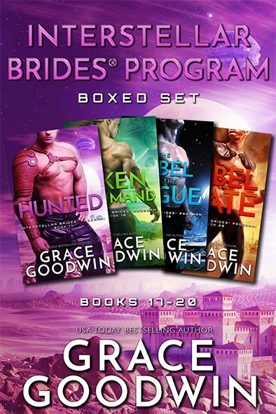 book cover for Interstellar Brides Program Boxed Set 17-20 by Grace Goodwin