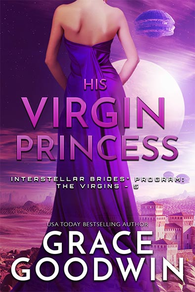 book cover for His Virgin Princess by Grace Goodwin