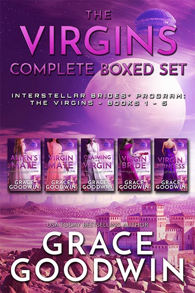 book cover for The Virgins – Complete Boxed Set by Grace Goodwin