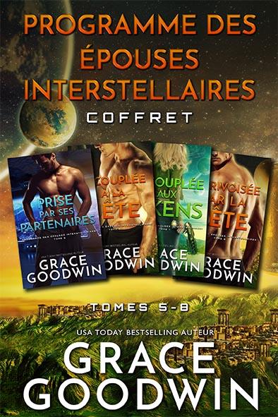 couverture de livre pour Programme des Épouses Interstellaires Coffret - Tomes 5-8 par Grace Goodwin