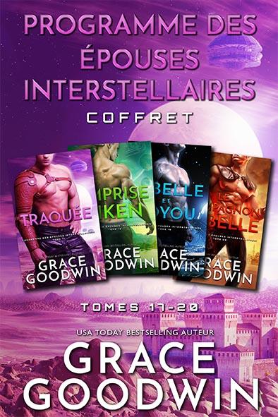 couverture de livre pour Programme des Épouses Interstellaires Coffret - Tomes 17-20 par Grace Goodwin