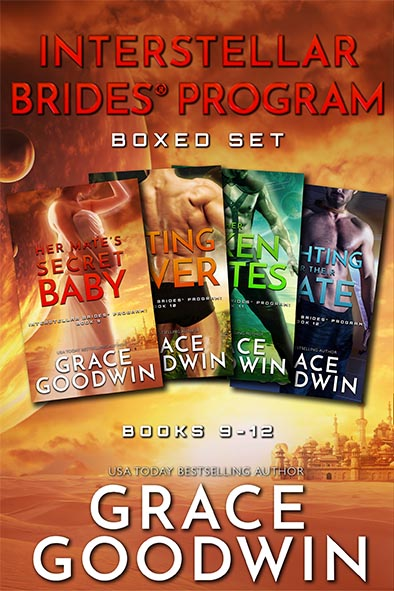 book cover for Interstellar Brides Program Boxed Set 9-12 by Grace Goodwin